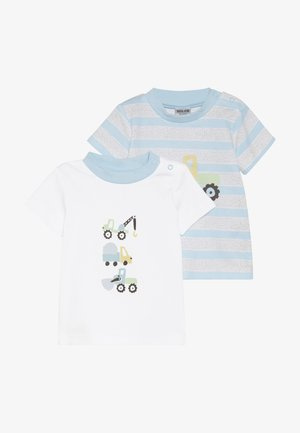 BOYS 2 PACK - T-shirt print - blue