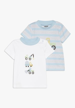 BOYS 2 PACK - Camiseta estampada - blue
