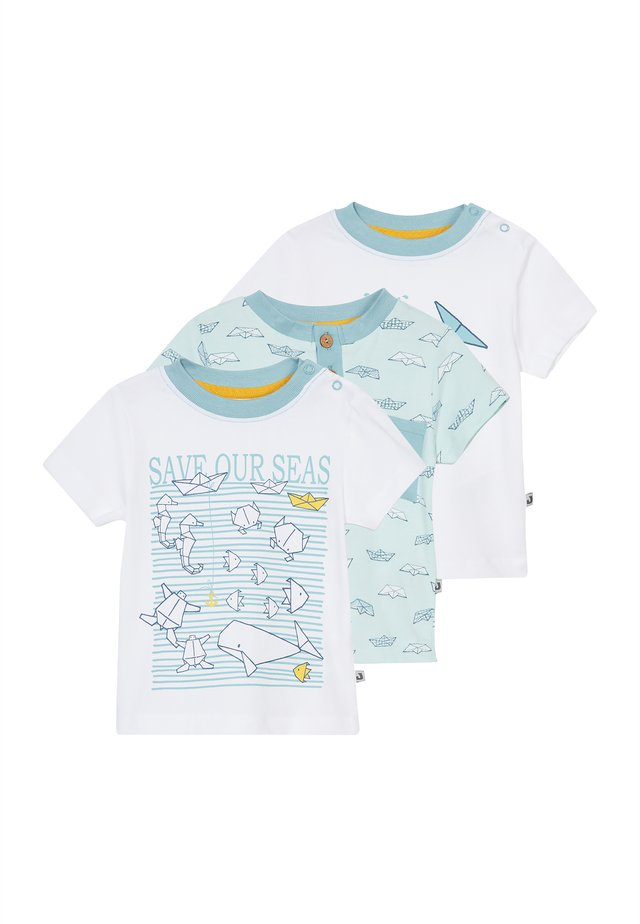 SAVE OUR SEAS  3 PACK - T-shirt imprimé - white