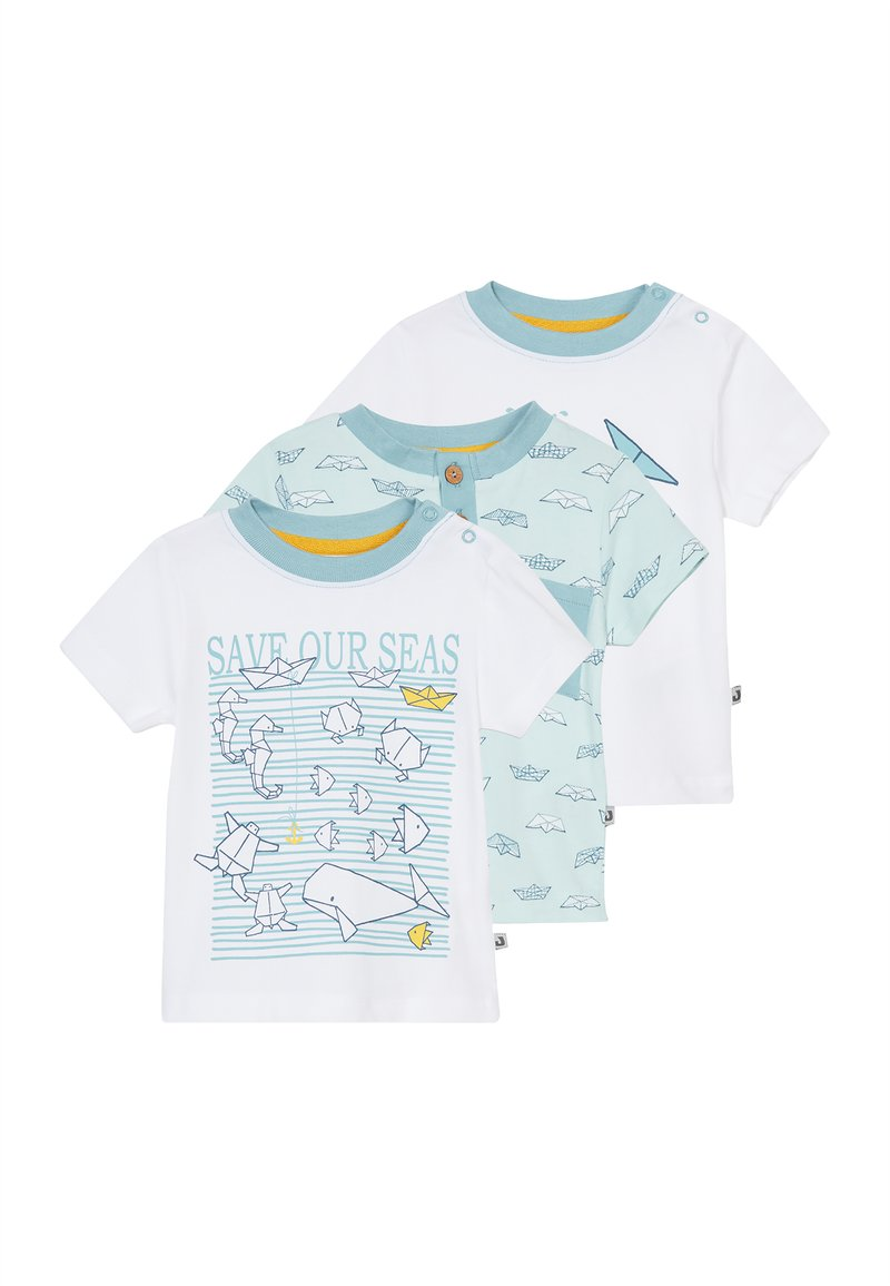 Jacky Baby - SAVE OUR SEAS  3 PACK - Printtipaita - white