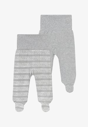 2 PACK - Stoffhose - grey