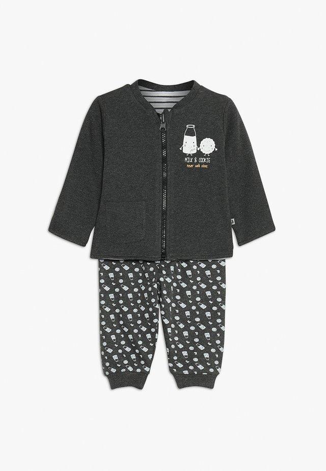 MILK & COOKIE BABY SET - Zip-up hoodie - anthrazit