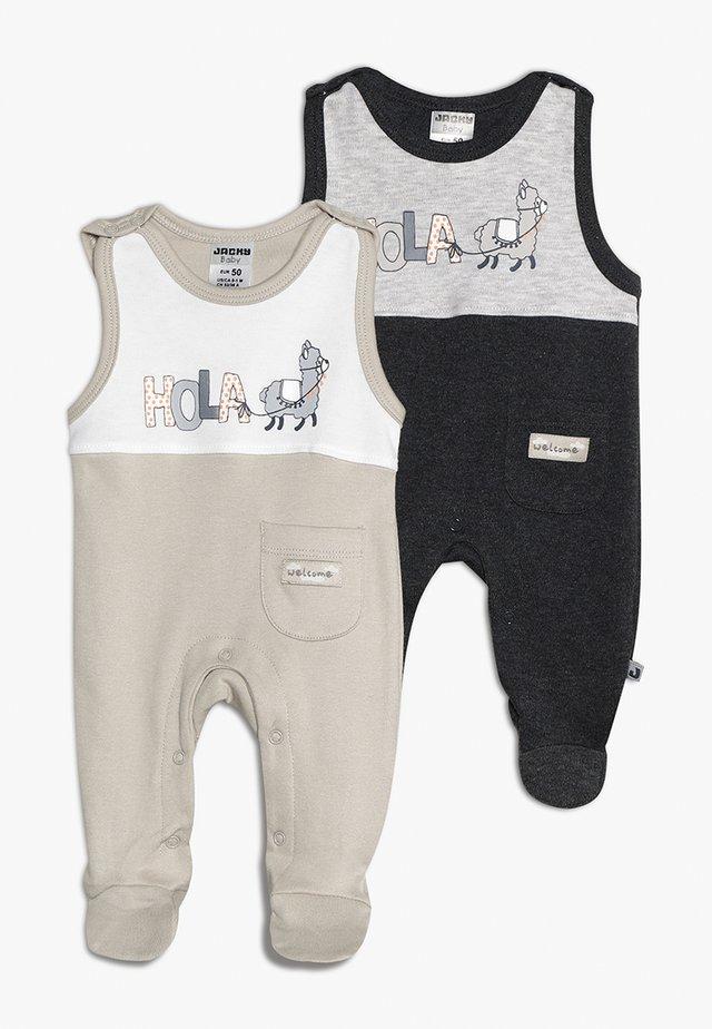 HOLA 2 PACK - Sleep suit - sand/grau