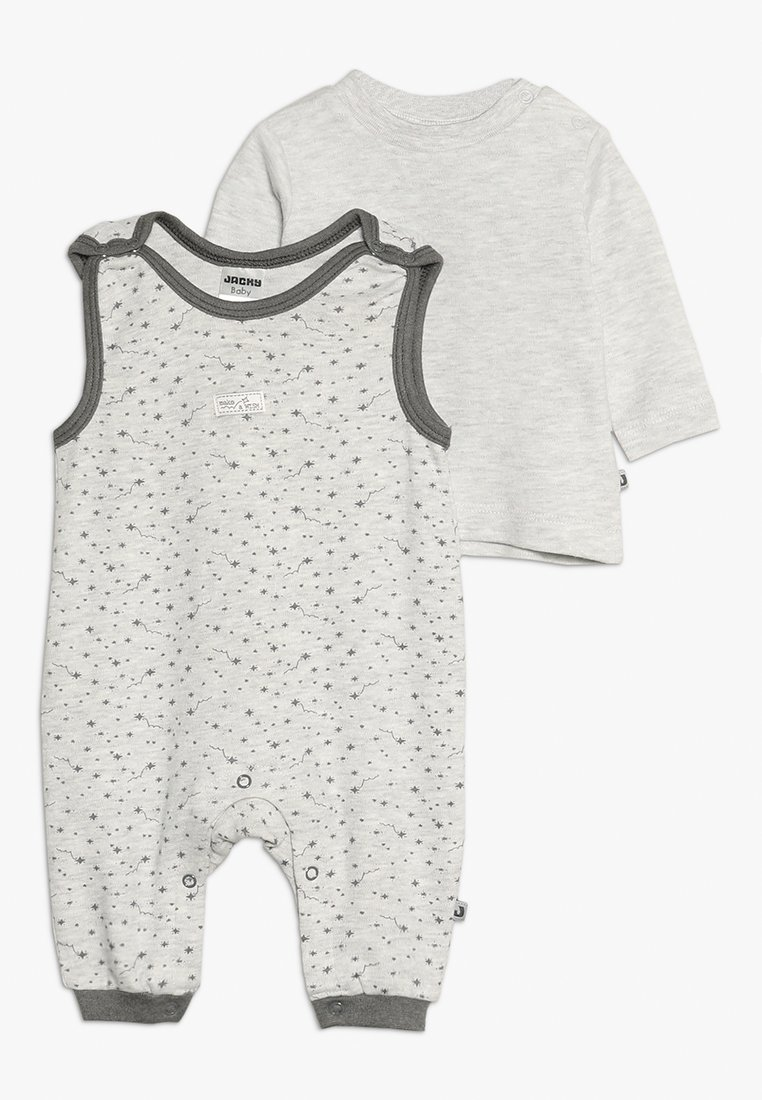 Jacky Baby - LAUFHOSEN MAKE A WISH SET - Jumpsuit - hellgrau mélange