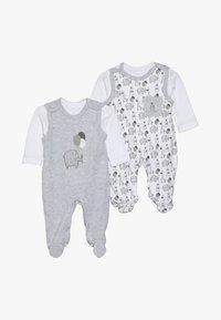 Jacky Baby - UNISEX SET 2 PACK - Babygrow - grey - 0