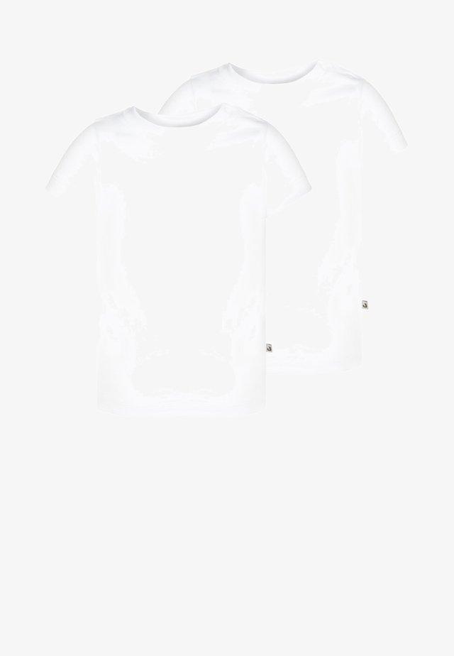 2 PACK - Basic T-shirt - weiß