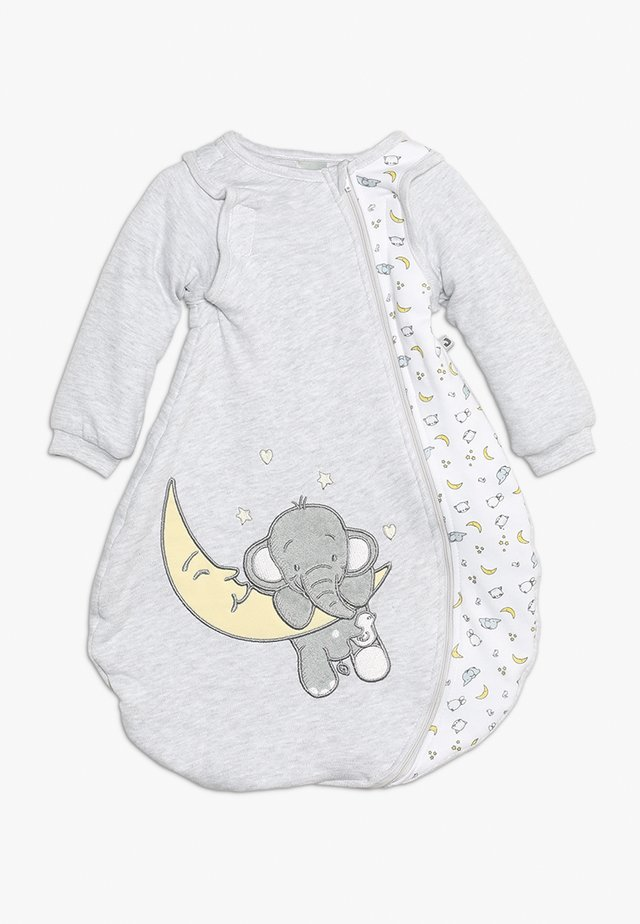Nachtwäsche Schlafsack - hellgrau melange