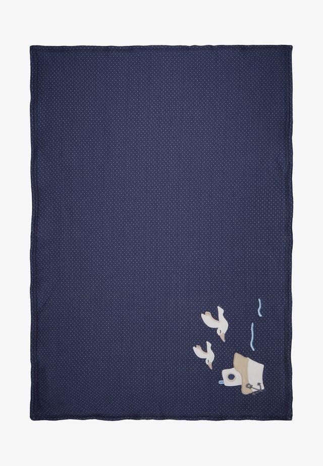 COUCOU MON PETIT - Babyfilt - dunkelblau/hellblau
