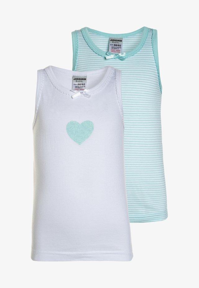 UNTERWÄSCHE GIRLS 2 PACK - Unterhemd/-shirt - mint