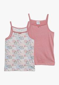 Jacky Baby - VEST FLOWERS 2 PACK - Undershirt - pink - 0