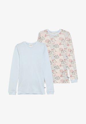LONG FLOWERS 2 PACK - Undershirt - light blue