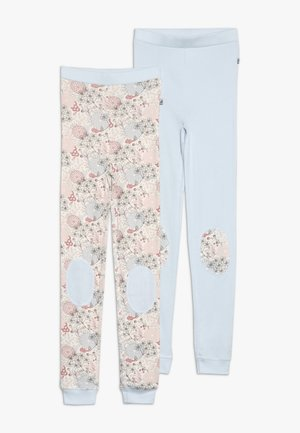 LONG JOHN FLOWERS 2 PACK - Nachtwäsche Hose - light blue