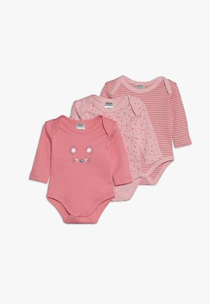 LANGARM GIRLS 3 PACK - Body - rose