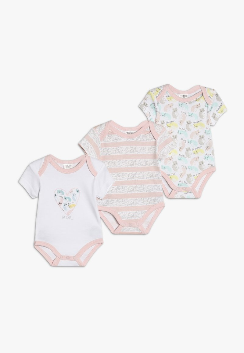 Jacky Baby - KURZARM GIRLS 3 PACK - Body - light pink