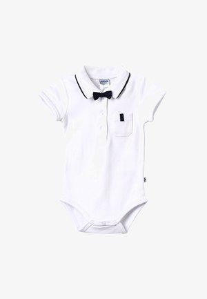 KURZARM MIT ABNEHMBARER FLIEGE CLASSIC BOY BABY - Polo - weiß