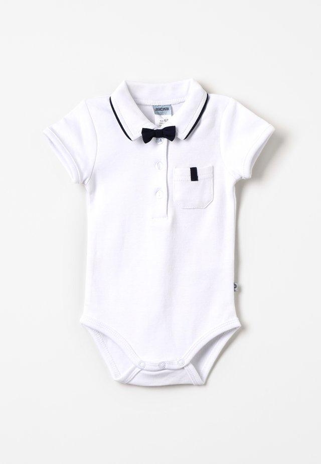 KURZARM MIT ABNEHMBARER FLIEGE CLASSIC BOY BABY - Polo shirt - weiß