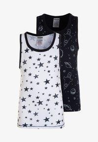 Jacky Baby - VEST SPACE & STARS BOYS 2 PACK  - Undershirt - dark blue - 0