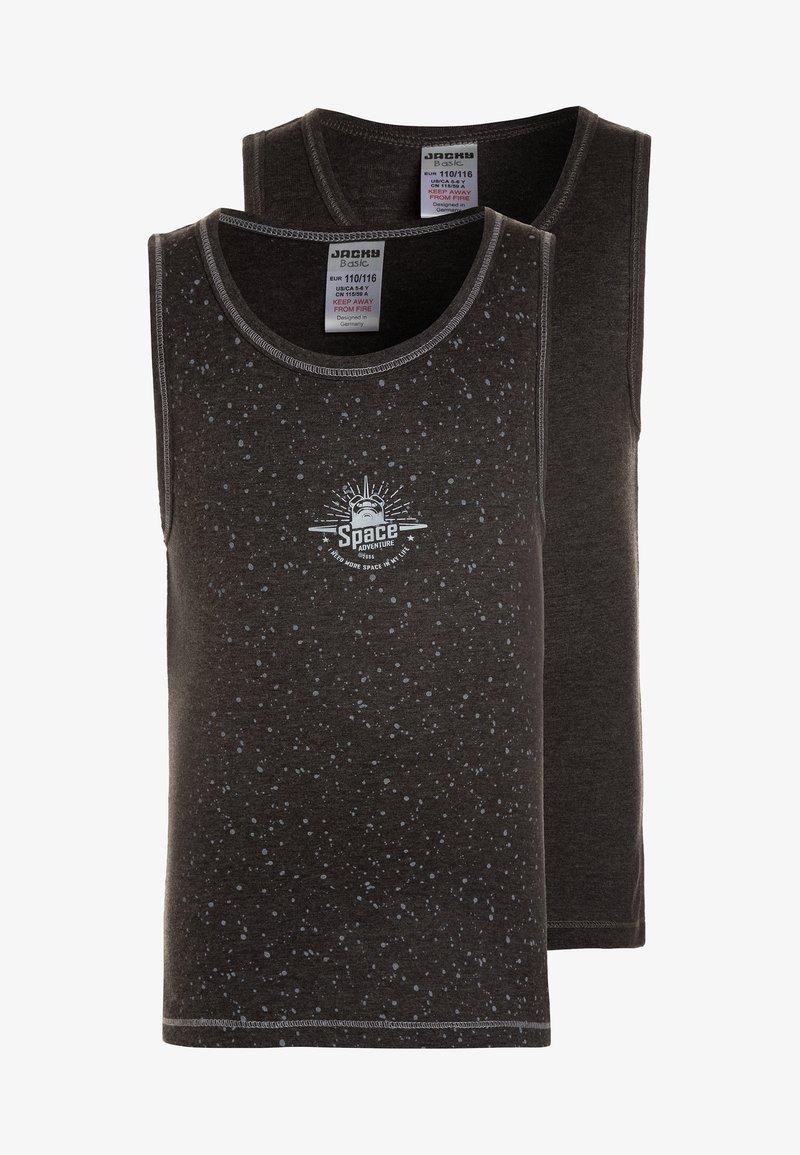 Jacky Baby - VEST SPACE LOGO BOYS 2 PACK - Unterhemd/-shirt - anthrazit