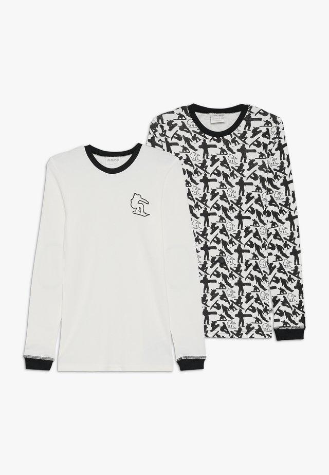SNOWBOARD LONG 2 PACK - Unterhemd/-shirt - offwhite