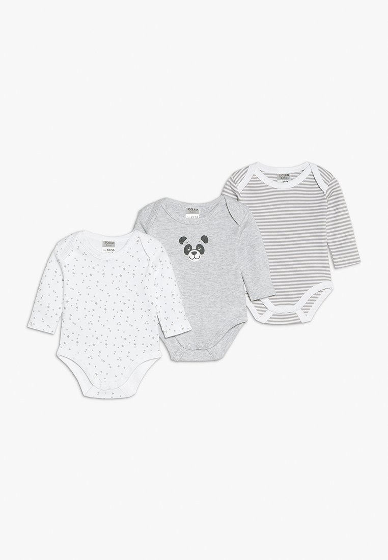 Jacky Baby - LANGARM UNISEX 3 PACK - Body - grey