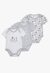 Jacky Baby - KURZARM UNISEX 3 PACK  - Body - grey - 0