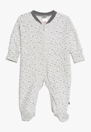 SCHLAFANZUG MIT UMSCHLAGHANDSCHUH MAKE A WISH - Pyjamas - hellgrau mélange