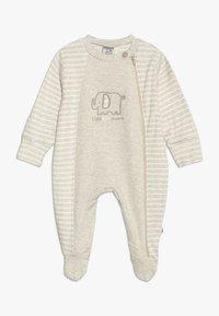 Jacky Baby - SCHLAFANZUG MIT UMSCHLAGHANDSCHUH - Pijama - beige melange - 0