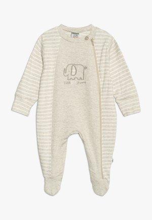 SCHLAFANZUG MIT UMSCHLAGHANDSCHUH - Pyjamas - beige melange