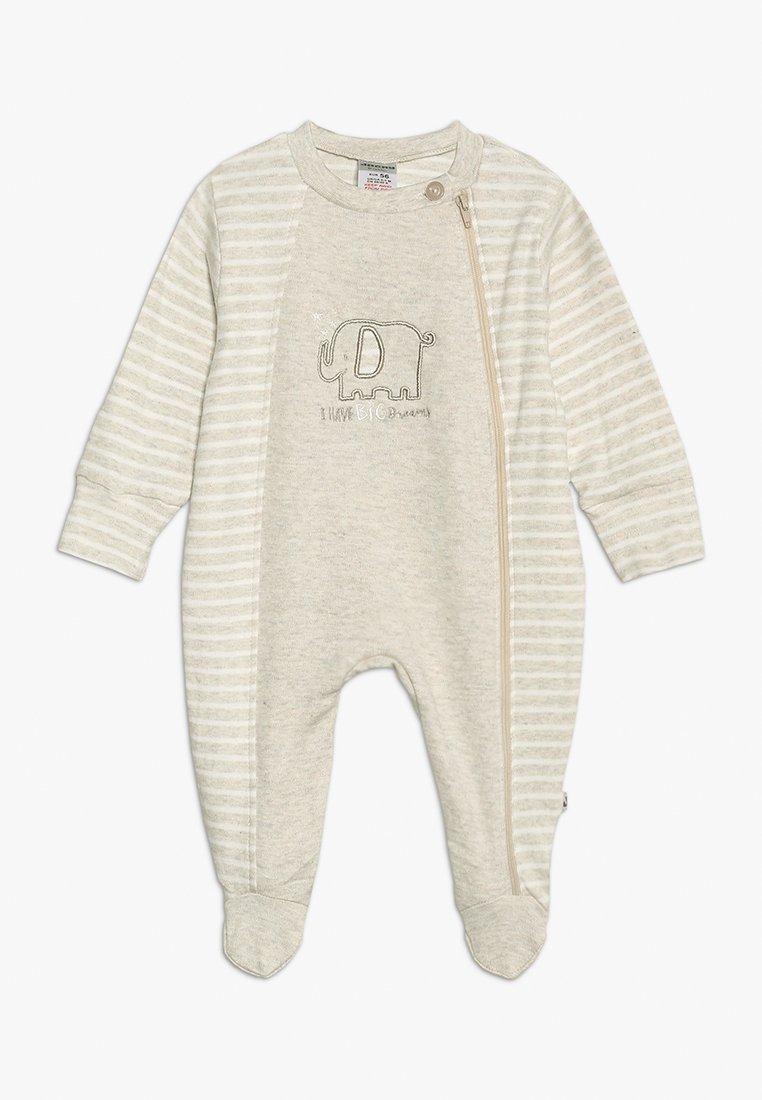 Jacky Baby - SCHLAFANZUG MIT UMSCHLAGHANDSCHUH - Pijama - beige melange