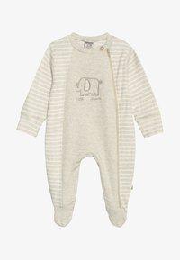 Jacky Baby - SCHLAFANZUG MIT UMSCHLAGHANDSCHUH - Pijama - beige melange - 4