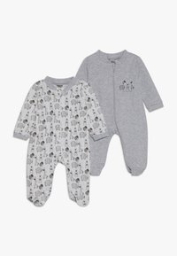 Jacky Baby - SCHLAFANZUG UNISEX 2 PACK - Pyžamo - grey - 0