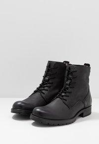 Jack & Jones - JFWORCA  - Šněrovací kotníkové boty - anthracite - 2