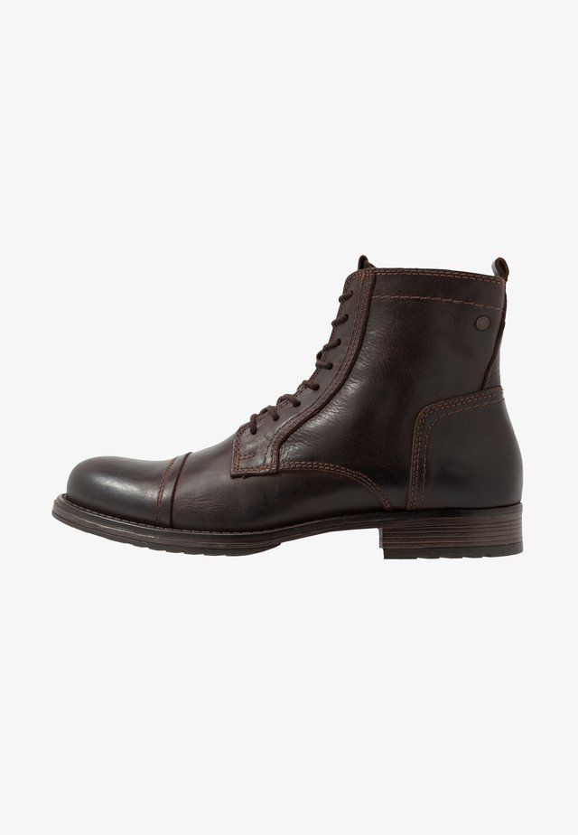 JFWRUSSEL - Lace-up ankle boots - brown stone