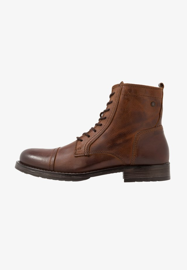JFWRUSSEL - Lace-up ankle boots - cognac