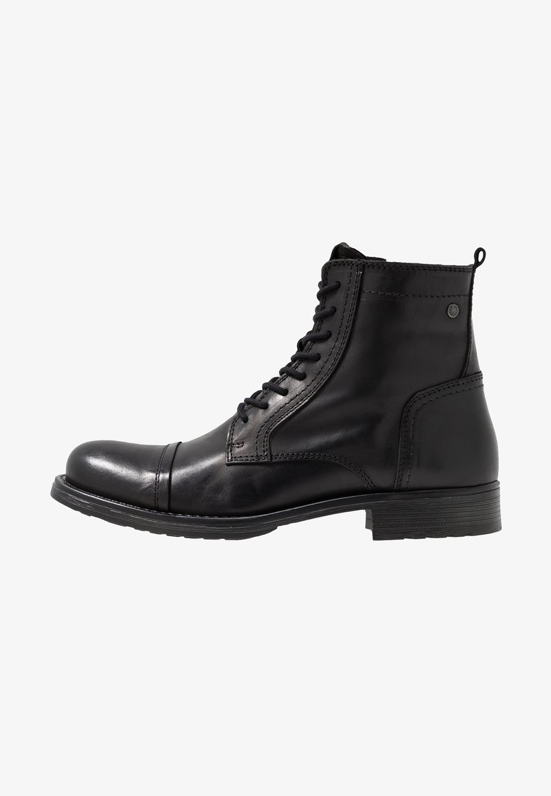Jack & Jones - JFWRUSSEL - Bottines à lacets - anthracite