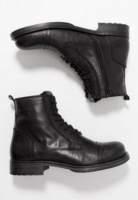 Jack & Jones - JFWRUSSEL - Bottines à lacets - anthracite - 1