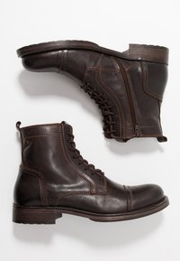 Jack & Jones - JFWRUSSEL - Bottines à lacets - brown stone - 1