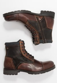 Jack & Jones - JFWMARSHALL - Lace-up ankle boots - cognac - 1