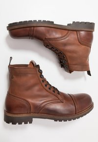 Jack & Jones - JFWEAGLE - Bottines à lacets - brown stone - 1