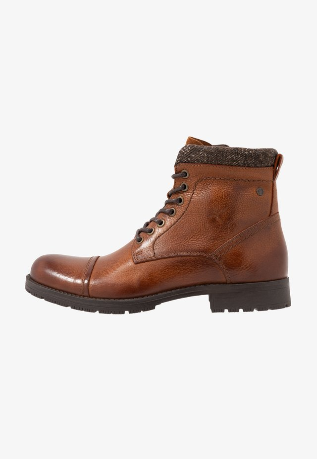 JFWMARLY - Lace-up ankle boots - cognac