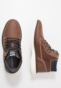 Jack & Jones - JFWDUSTON - Šněrovací kotníkové boty - cognac - 1