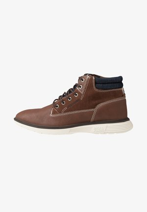 JFWDUSTON - Lace-up ankle boots - cognac