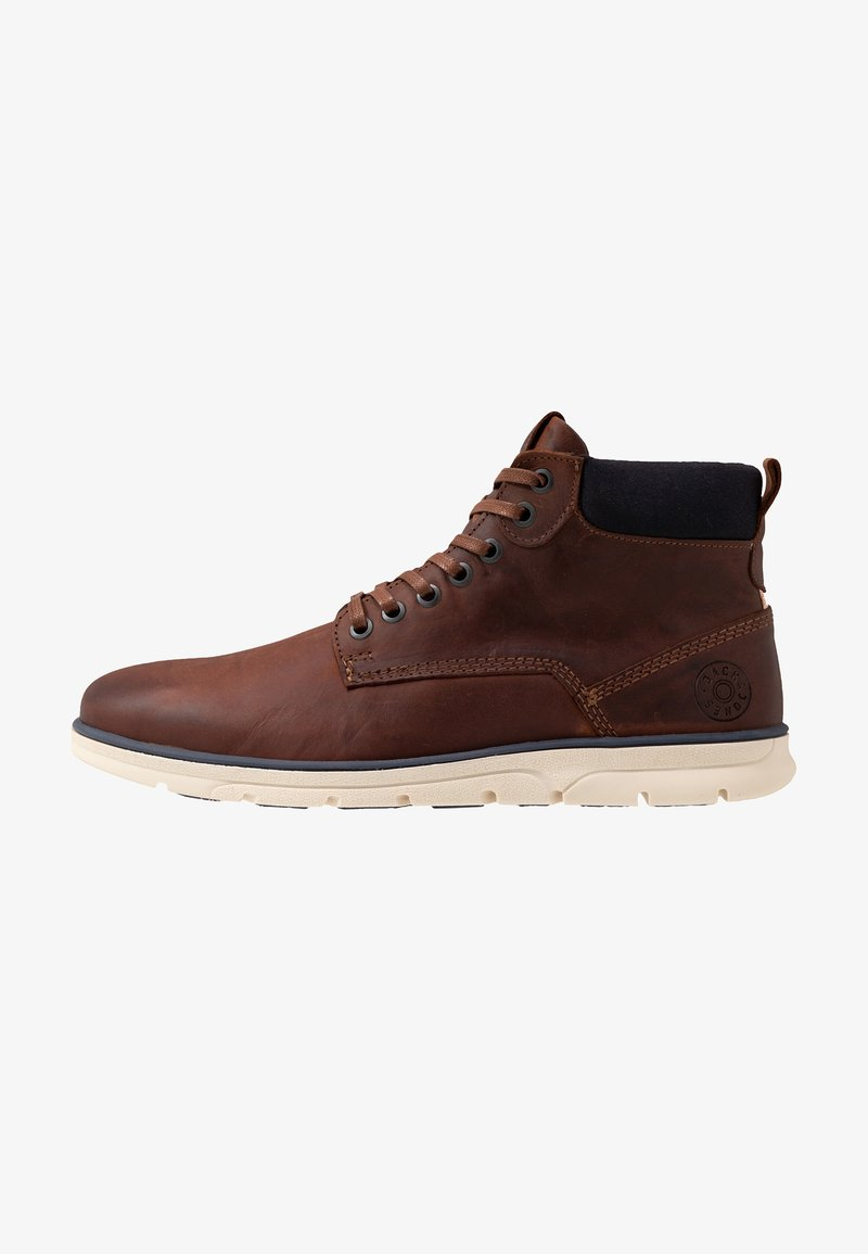 Jack & Jones - JFWTUBAR - Lace-up ankle boots - brandy