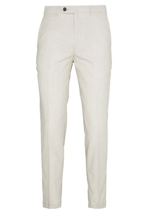 LINEN MIXED FIBER SUIT PANTS - Spodnie garniturowe - string