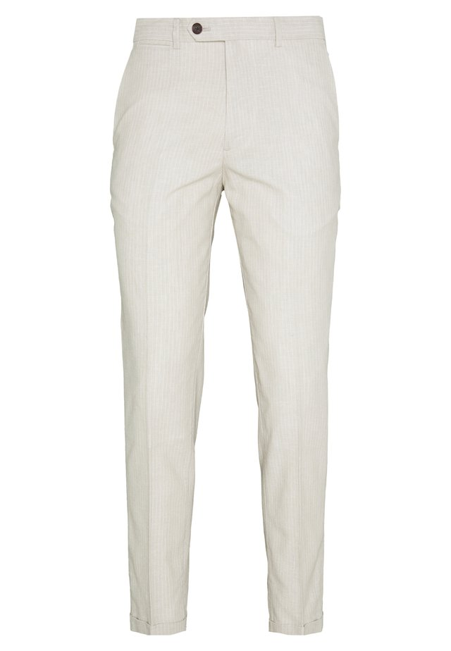 LINEN MIXED FIBER SUIT PANTS - Pantaloni eleganti - string
