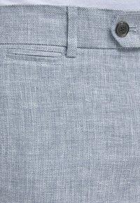 Jack & Jones - LINEN MIXED FIBER SUIT PANTS - Spodnie garniturowe - light blue - 4