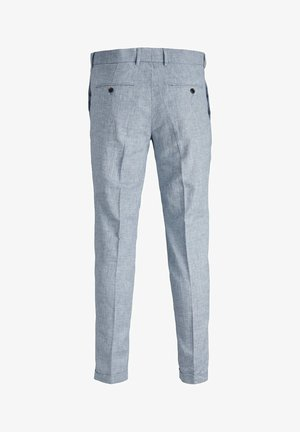 LINEN MIXED FIBER SUIT PANTS - Pantalón de traje - light blue
