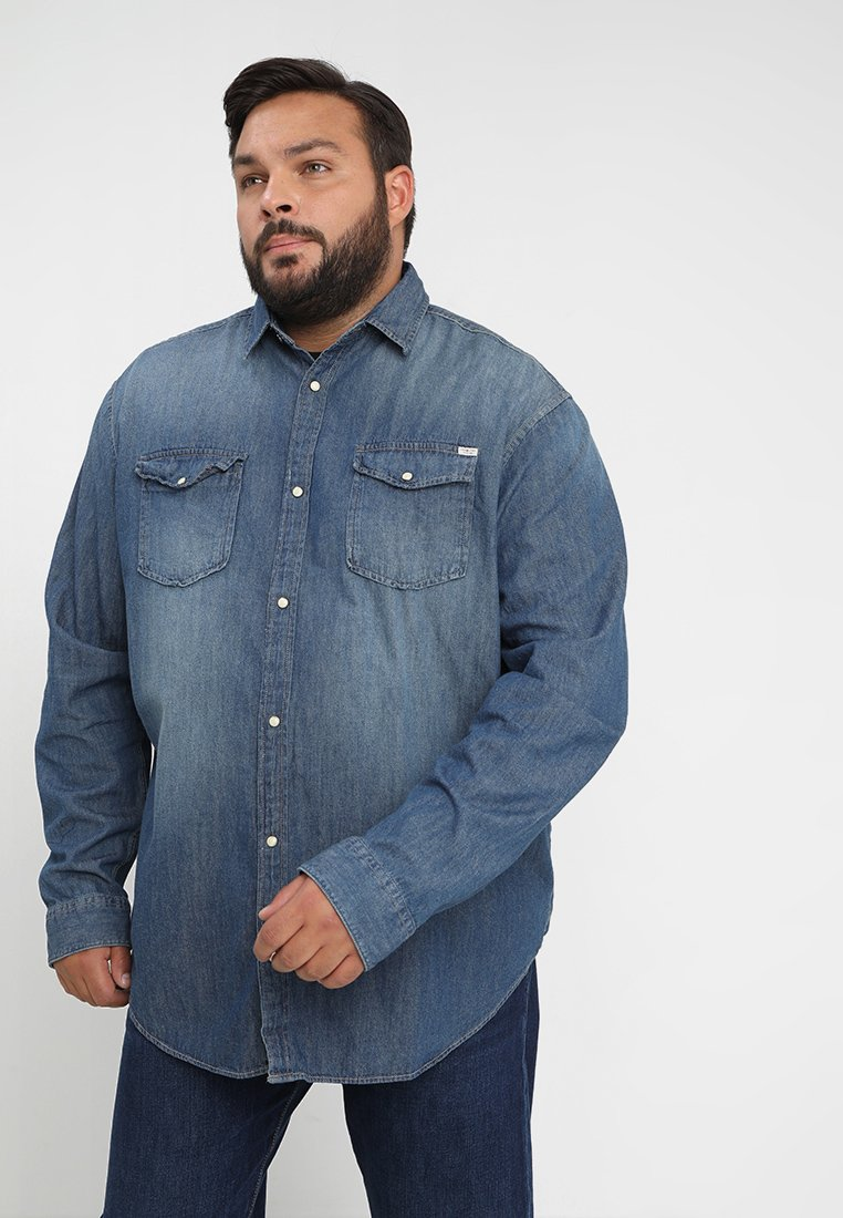 Jack & Jones - JJESHERIDAN PLUS - Košile - medium blue denim