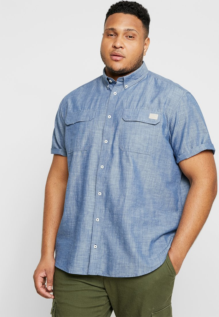 Jack & Jones - JCOPAOLO WORKER PLUS SIZE - Skjorter - chambray blue