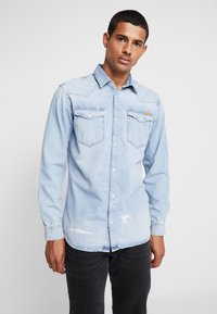 Jack & Jones - JJIJAMES JJSHIRT  - Skjorta - blue denim - 0